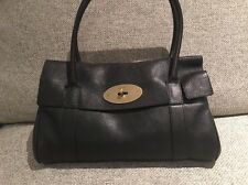 Mulberry Bayswater Tote Black Natural Veg Tanned Leather Gold Christmas Gift