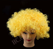 Unisex Funky Afro Disco Clown Wigs Mens/Ladies Halloween Costume Wigs 16 Colors