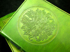 Pagan Wicca GREEN MAN Handmade Leather Journal Book of Shadows Grimoire Diary
