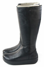 FitFlop Womens Superboot Tall Leather Boot Black Size EU 41 Size 9 US
