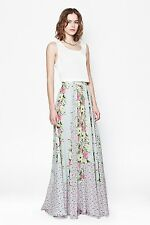 FRENCH CONNECTION Maxi Skirt -Desert Tropicana Chiffon,ICE COOLER SZ 0 ( UK 4 )