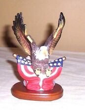 ~~ SMALL CHINA SWOOPING EAGLE WITH AMERICAN FLAGS