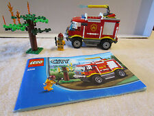 Lego CITY FIRE TRUCK 4 X 4 SET 4208 WITH INSTRUCTIONS MISSING 4 SMALL PIECE'S