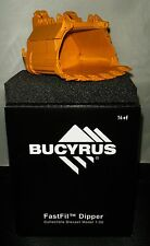 Caterpillar - Bucyrus 495HF Bucket. Authentic Hitachi Orange 1:50th. MIB.
