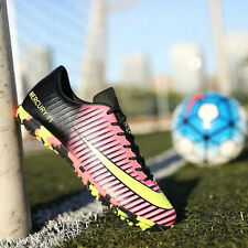 Men's Soccer Athletic Turf  TF Shoes Football Sport Sneakers Pink Color EU 39-44