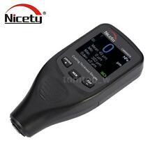 Portable Digital Paint Coating Thickness Gauge Fe/NFe Probe CM8806FN Nicety V9S9