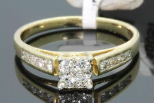 10K YELLOW GOLD .49 CT WOMENS REAL DIAMOND ENGAGEMENT RING WEDDING BRIDAL RING