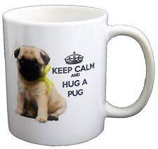 Keep Calm And Hug A Pug PRINTED MUG MUGS-GIFT, BIRTHDAY PRESENT