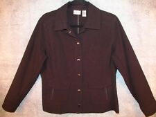 "Chico's Black Snap Shirt Jacket 1 S Sm Chest Zip Pockets Artsy Funky 41"" Bust"