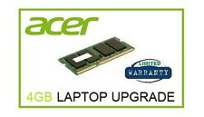 4 GB di memoria RAM UPGRADE ACER ASPIRE ONE 722 725 (tutti i modelli) & 756 Netbook Laptop