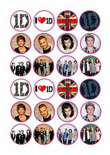 24 x One Direction Cup Cake Toppers Rice/Wafer Paper