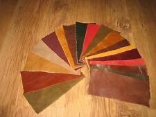 18 X PIECES MIXED LEATHER SCRAPS / REMNANTS /OFF CUTS/ REPAIRS