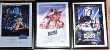 STAR Wars A4 Incorniciato TRILOGIA pictues (Set)
