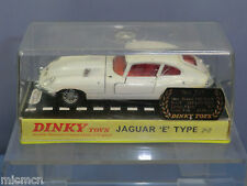 "DINKY TOYS MODEL No.131  JAGUAR E TYPE 2.2 ""WHITE VERSION PERSPEX TOP VN MIB"