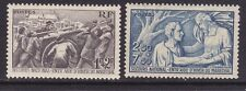 France B112-13 Mint OG 1941 Men Hauling Coal & France Aiding Needy Man Set