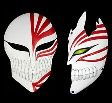 FD4471 Bleach Ichigo Kurosaki Bankai Hollow Mask Full + Half Cosplay Props 2PC*