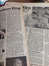 T1-6 Ephemera 1958 Article Film Canteen Phil Hobbs
