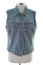 Gap Womens Denim Jacket Sleeveless Size 14 Large Blue Cotton