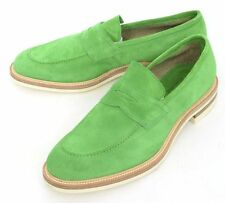 Mens KITON ADM Lime Green Suede Penny Loafers Shoes UK 9 US 10 D 1800 €!