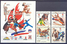 Olympiade 1992, Olympic Games - Komoren - 950-953, Bl.334 ** MNH