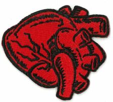 RED HEART ORGAN iron on/sew on Embroidered Patch Applique DIY (US Seller)