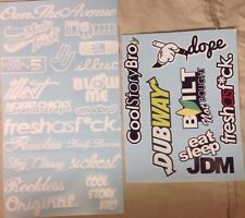 Type R 25 Individual Sticker Bomb Pack/Lot JDM Drift Stance  WT (typeR+Type2)