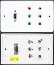 AV Wall Plate VGA / RGB Video / RCA Phono Audio / 3.5mm Stereo Jack sockets