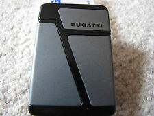 BUGATTI  B-2002 Dual Jet Torch Cigar Lighter with Punch - Gray & Black - NEW