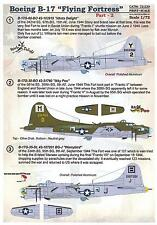 Print Scale Decals 1/72 BOEING B-17 FLYING FORTRESS Heavy Bomber Part 2