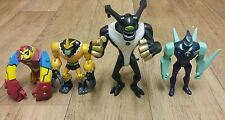 Ben 10 Figures Bundle SHOCKSQUATCH, FEEDBACK, BLOXX & DIAMONDHEAD Joblot Toys
