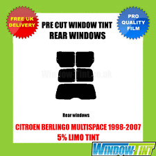 CITROEN BERLINGO MULTISPACE 1998-2007 5% LIMO REAR PRE CUT WINDOW TINT