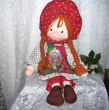 HOLLY HOBBIE CLOTH DOLL AND ORNAMENT CHRISTMAS 1988