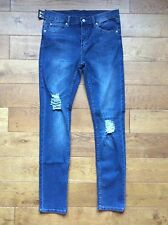 CHEAP MONDAY JEANS 32/34 CARBON BLUE STYLE TIGHT £25