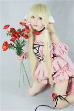 Chobits Eruda Wig Cosplay Party Golden Wig+Free Wig Cap