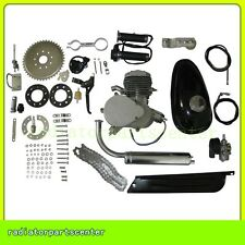 80cc 2 Cycle Petrol Gas Engine Motor Kit for Motorized Bicycle Bike Silver Body