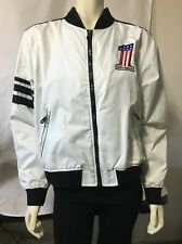 Authentic HARLEY DAVIDSON Jacket White Nylon Number 1 Women's Size Large