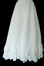 VINTAGE LAURA ASHLEY VICTORIAN STYLE WHITE WEDDING PETTICOAT, 10,12,14,16,18,20
