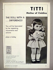 Titti, Mother of Cialdino Doll PRINT AD - 1972 ~ Sebino La Bambola dolls