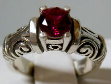 blood red 1ct ruby antique 925 sterling silver ring size 8.5 USA made