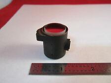 MICROSCOPE LEITZ OPTICAL PART MOUNTED IN BRASS OPTICS BIN#5M-16
