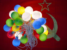 Soviet Christmas lights for tree GARLAND Globe space earth Vintage USSR
