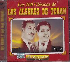 Los Alegres de Teran Las 100 Clasicas 2CD New Nuevo sealed VOL 2