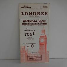 LONDRES avion Air France British Airways dépliant flyer 1978