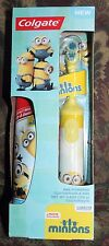 Brand New Colgate Despicable Me Minions Powered Toothbrush & Toothpaste Set