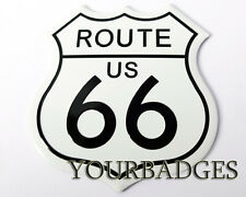 New Aluminium Route 66 US Road Sign Car badge USA Muscle Car