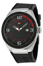 Tommy Hilfiger 1790807 Black Dial Black Silicone Strap Men's Watch
