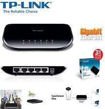 TP-Link 5-Port Gigabit Desktop Switch 100Mbps TL-SG1005D Play & Plug UK