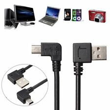 480Mbps USB 2.0 Type A Male 90° Vers Mini USB B Male 5Pin Data Adaptateur Cable