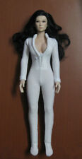 """1:6 Scale Woman White Slim tight stretch leotard Clothing Suit F 12"""" Female Body"""