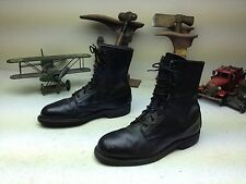 VINTAGE COVE DISTRESSED STEEL TOE BLACK LEATHER MOTORCYCLE ENGINEER BOOTS 7 W